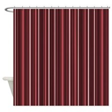 Modern Burgundy Shower Curtains