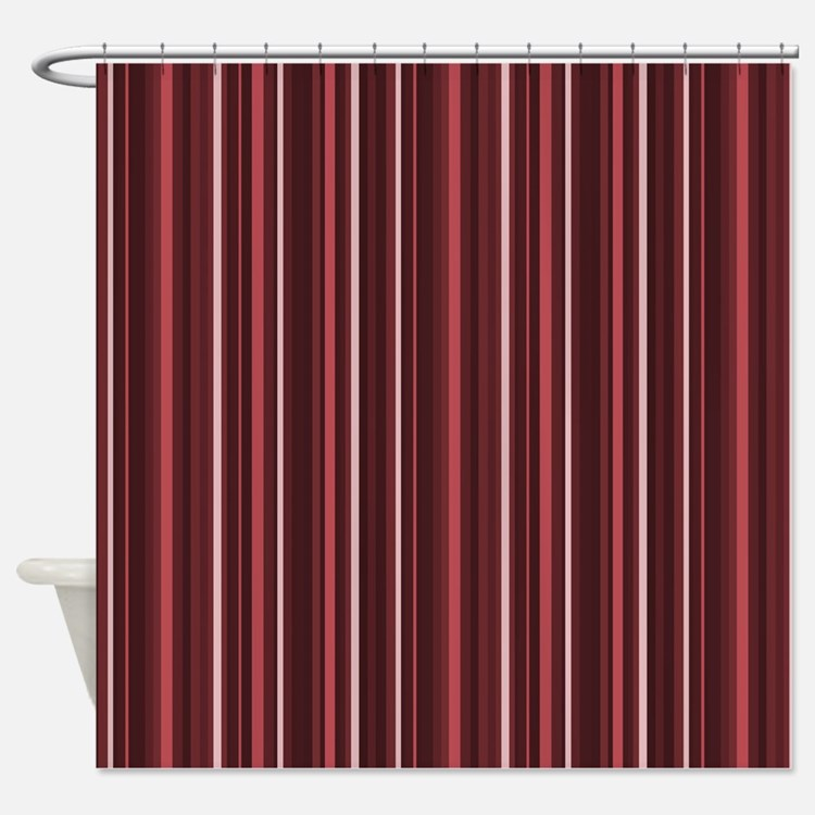 Brown And Burgundy Shower Curtains