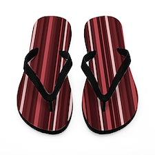 Marsala Stripes Flip Flops
