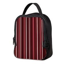 Marsala Stripes Neoprene Lunch Bag