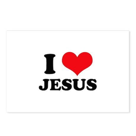 I Heart Jesus Postcards (Package of 8)