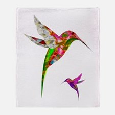 Humming Birds Throw Blanket