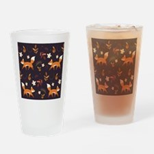 Cute Vintage fox Drinking Glass