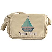 Customizable Blue Sailboat Messenger Bag