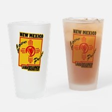 NEW MEXICO LOVE AND PRIDE Drinking Glass