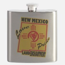NEW MEXICO LOVE AND PRIDE Flask