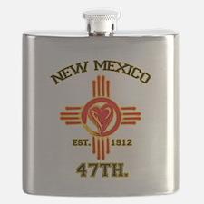 NEW MEXICO LOVE EST. 1912 Flask