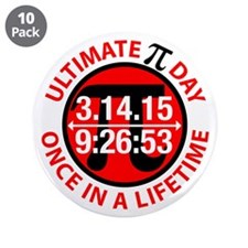 "Ultimate Pi Day 2015 3.5"" Button (10 pack)"