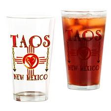 TAOS LOVE Drinking Glass
