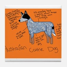 Australian Cattle Dog Tile Coaster