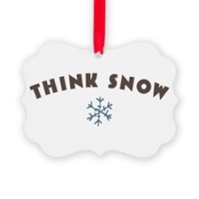 Think Snow Ornament