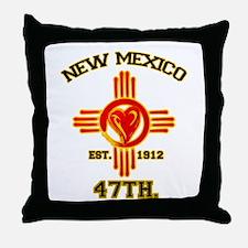NEW MEXICO LOVE EST. 1912 Throw Pillow