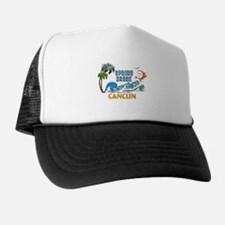 3D Palms Waves Sunset Spring Break CAN Trucker Hat