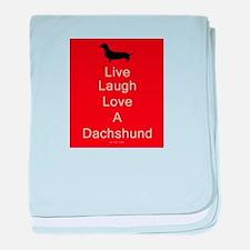 Funny Dachshund lovers baby blanket