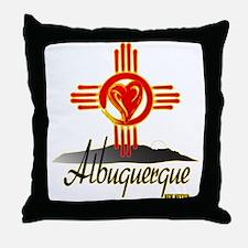 ALBUQUERQUE LOVE Throw Pillow