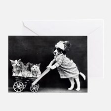 Funny Baby carriage Greeting Card