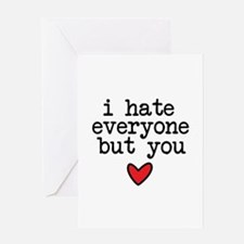 Hate Everyone Greeting Cards