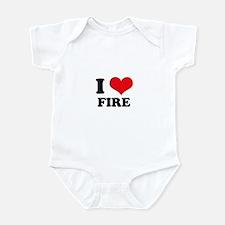 I Heart Fire Infant Bodysuit