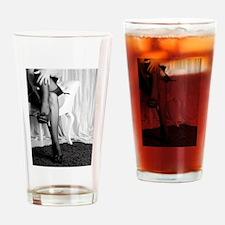 sexy stockings legs black white pho Drinking Glass