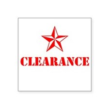 Clearance Sticker