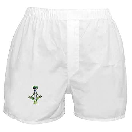 Green Zen Gecko Boxer Shorts