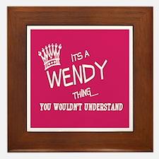 Cute Wendy Framed Tile
