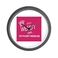Cute Wendy Wall Clock