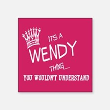 "Unique Wendy Square Sticker 3"" x 3"""