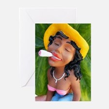 black joint doll Greeting Cards