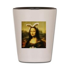 Mona Lisa, The Easter Bunny Shot Glass