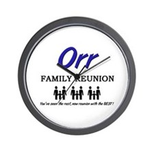 Orr Family Reunion Wall Clock