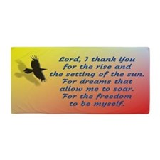 Lord i thank You for the freedom Beach Towel