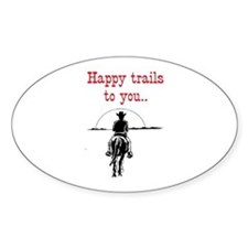 HAPPY TRAILS Decal
