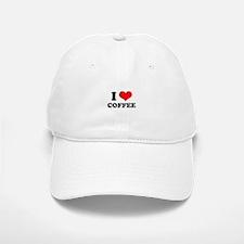 I Heart Coffee Baseball Baseball Cap