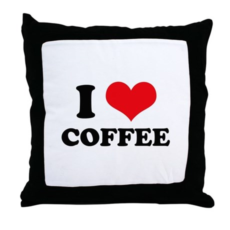 I Heart Coffee Throw Pillow