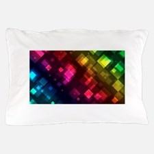 ombre square rainbow Pillow Case