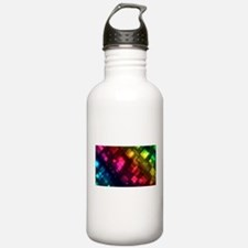 ombre square rainbow Water Bottle