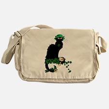 Le Chat Noir, St Patricks Day Messenger Bag