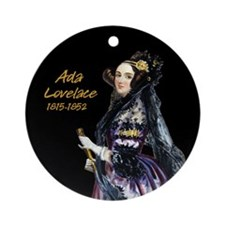 Ada Lovelace Ornament (Round)