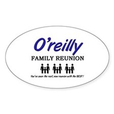 O'reilly Family Reunion Oval Decal