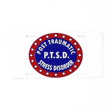 P.T.S.D. BADGES Aluminum License Plate