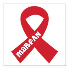 "Marfan Awareness Ribbon Square Car Magnet 3"" x 3"""