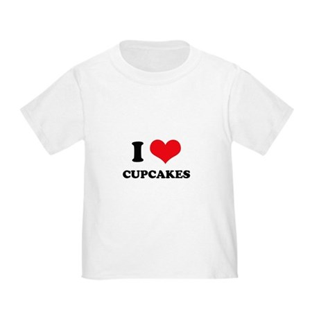 I Love Heart Cupcakes Toddler T-Shirt
