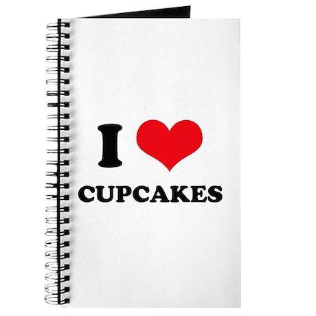 I Love Heart Cupcakes Journal