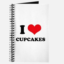 I Love Heart Cupcakes Journal