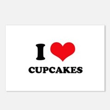 I Love Heart Cupcakes Postcards (Package of 8)