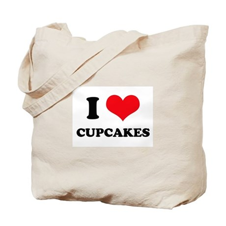 I Love Heart Cupcakes Tote Bag