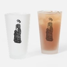 1800s vintage bustle woman Drinking Glass