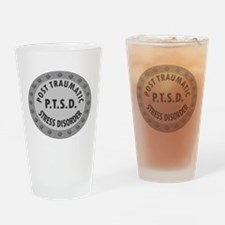 P.T.S.D. BADGES Drinking Glass