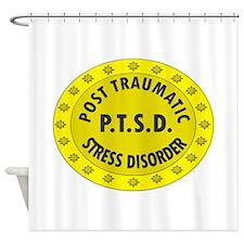 P.T.S.D. BADGES Shower Curtain